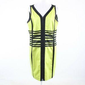 Yelllow green PER SE sleeveless shift dress 18